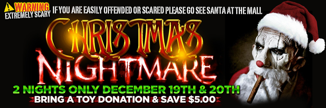 Christmas Nightmare at The Massacre Haunted House